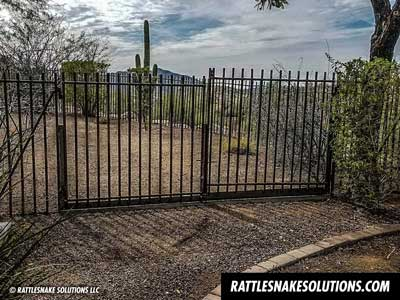 rattlesnake fence gate installation